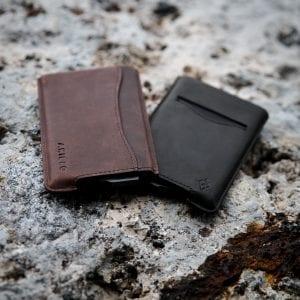 Black Brown RFID blocking credit card holder wallet pop up leather card holder like Andar Pilot Wallet