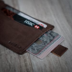 AKIELO Delta Wallet brown Bifold Mens Wallet Collection with pull tab or zip