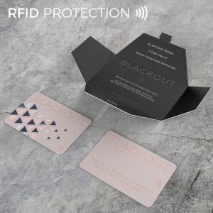 Pink Twin Pack Blackout Card Ultra Thin RFID Blocking Card RFID Card Protector for your Wallet or Purse