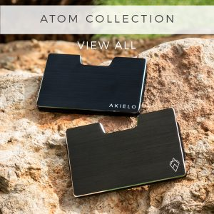 AKIELO ATOM Wallet RFID blocking card wallet minimalism