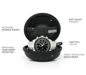 black travel watch case box for men