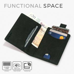 Tap and go wallet tap n go card holder with pull tab